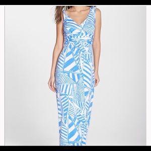 NWT Lilly Pulitzer Sloane Maxi Dress Bay Blue Sz S